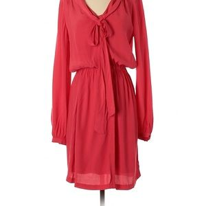 Donna Rocco Coral Long Sleeve Shirt Dress